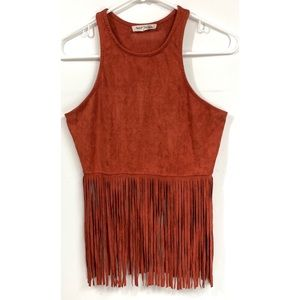 Bear Dance Tassel Tank Top Racerback Small